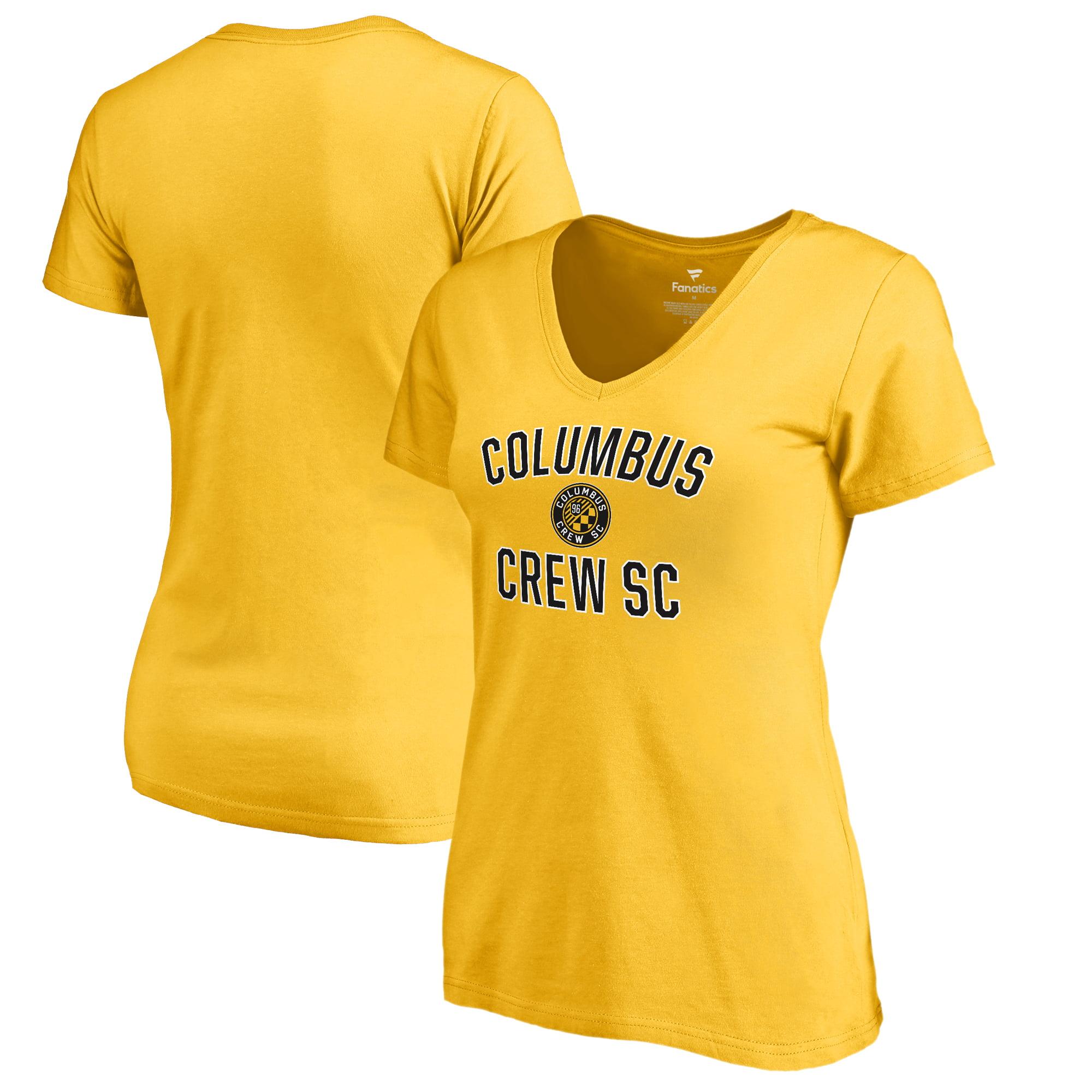 Columbus Crew SC Fanatics Branded Women's Victory Arch V-Neck T-Shirt - Yellow