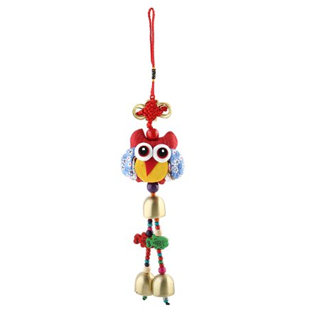 Traditional Style Handmade Knit Tassel 3 Bells Decor Chinese Knot Ornament (Chinese Bell Flower)