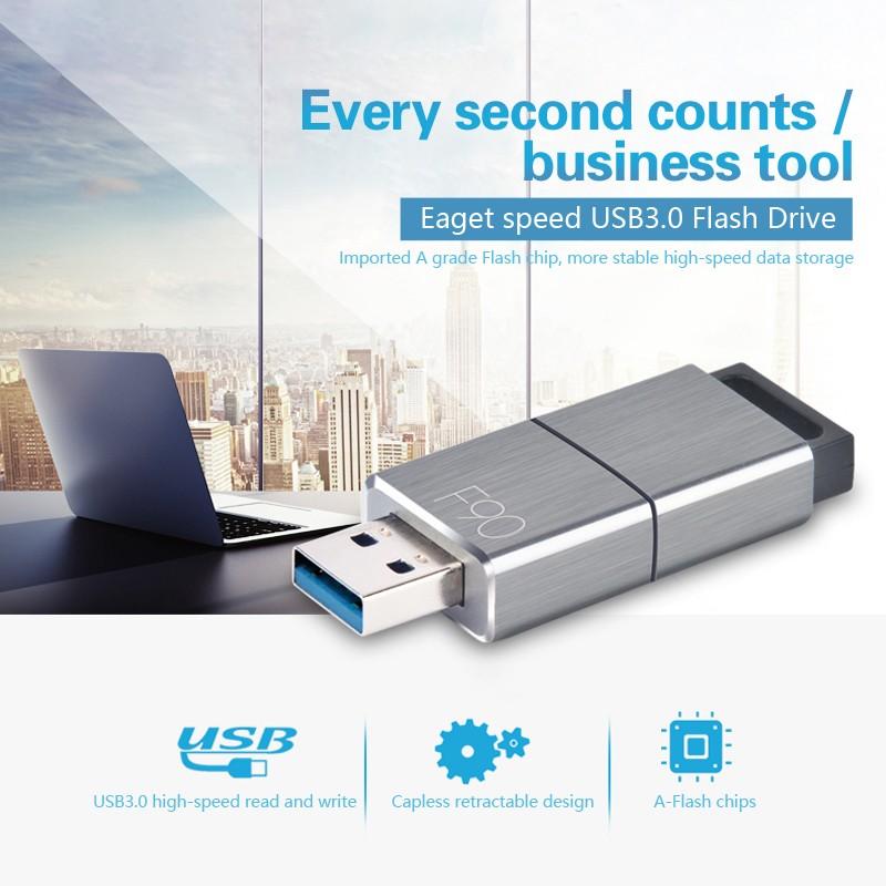 Eaget Shockproof USB 3.0 128GB USB Flash Drive U Disk Pen Drive High Speed 5Gbps
