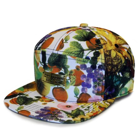 City Hutner Cs200 Fruit 7 Panel Hat (Orange) - Fruit Hat