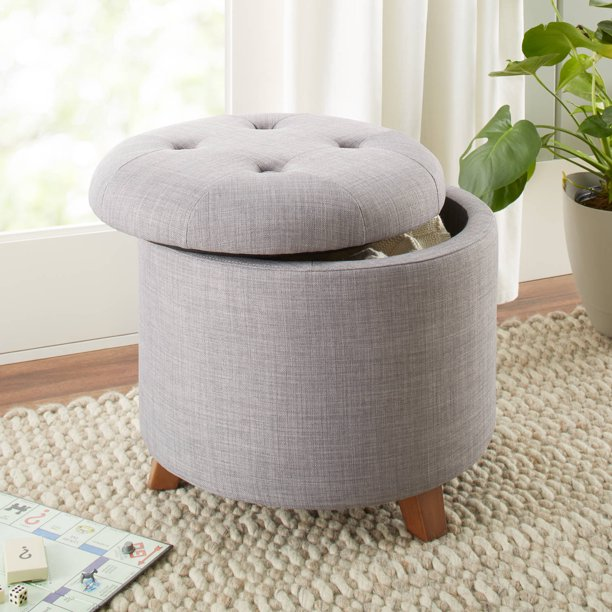 Better Homes & Gardens Colette Tufted Storage Ottoman, Multiple Colors