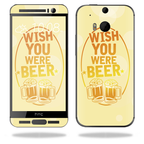 MightySkins Protective Vinyl Skin Decal for HTC One M9 Plus wrap cover sticker skins Wish You Were Beer