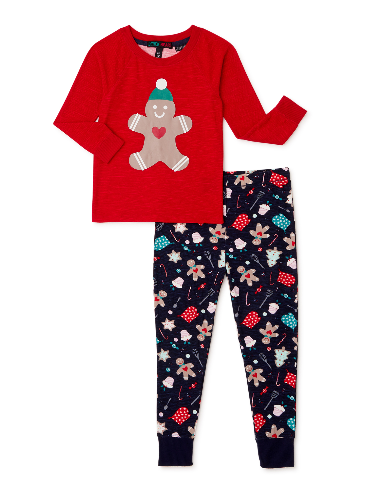 Baby Toddler Boys Girls Matching Christmas Pjs 2-Piece Style Pajama Set T-Shirt Pants Sleepwear Sets