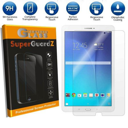 [2-Pack] For Samsung Galaxy Tab E 9.6 / Tab E Nook 9.6 - SuperGuardZ Tempered Glass Screen Protector [Anti-Scratch, Anti-Bubble] + 2 Stylus