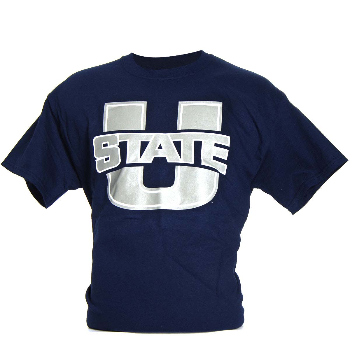 Utah State Aggies Medium Logo T-Shirt (Navy)