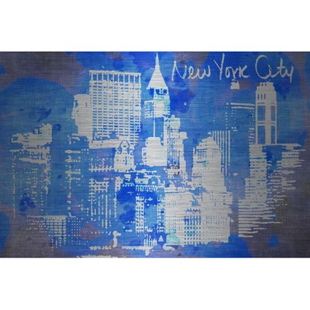 Marmont Hill New York Skyline By Jen Lee Painting Print On Brushed Aluminum