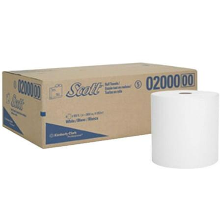 Kimberly Clark Scott High Capacity Hard Towel Roll White, Paper, 950' Length x 8
