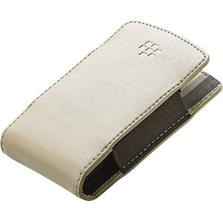 BlackBerry Leather Pocket for BlackBerry Tour 9630 - Sandstone / (Blackberry Vinyl Pocket)
