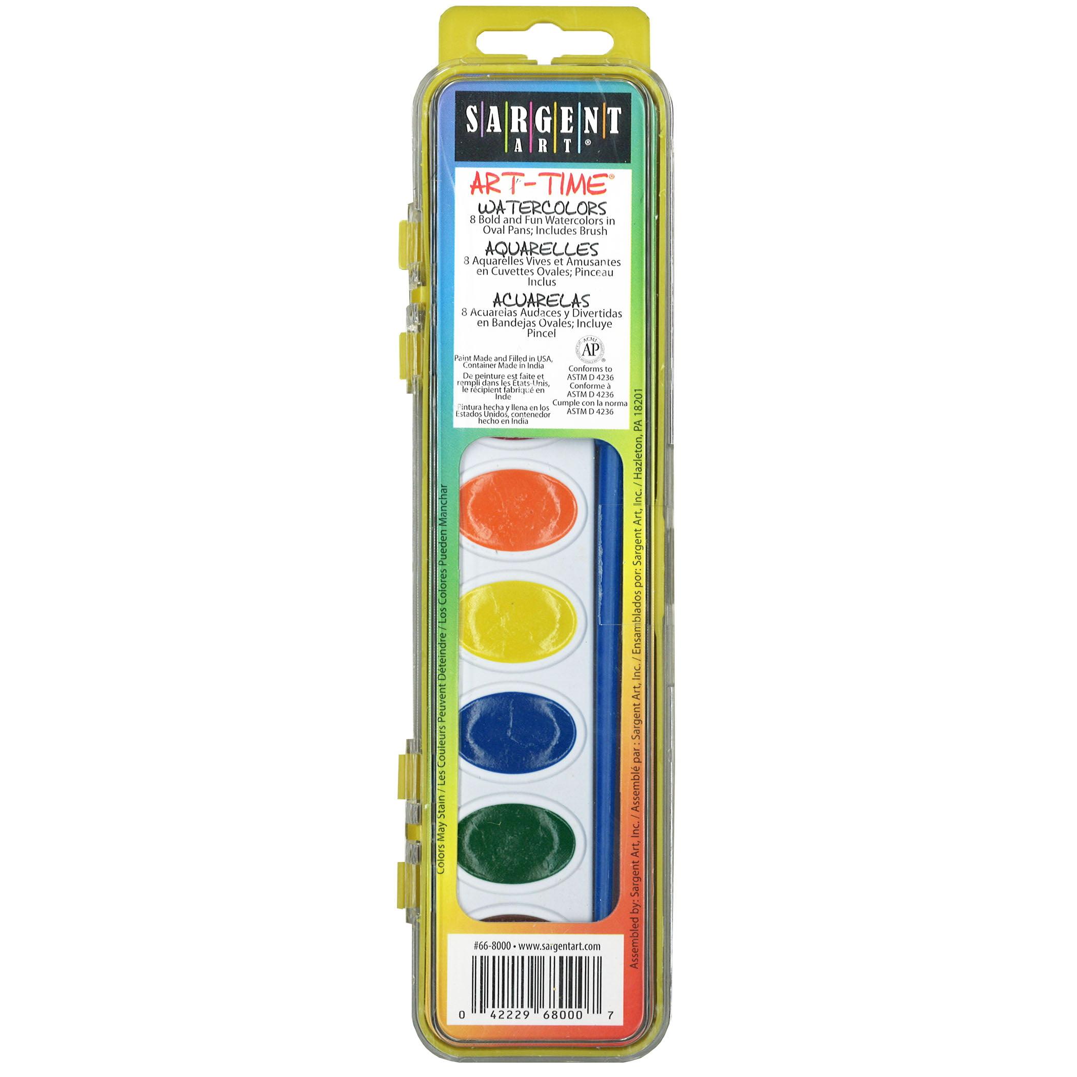 Art-Time® Watercolor Paints, 8 colors per pack, 24 packs