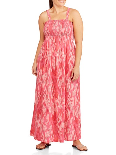 Plus Size Smocked Maxi Dresses