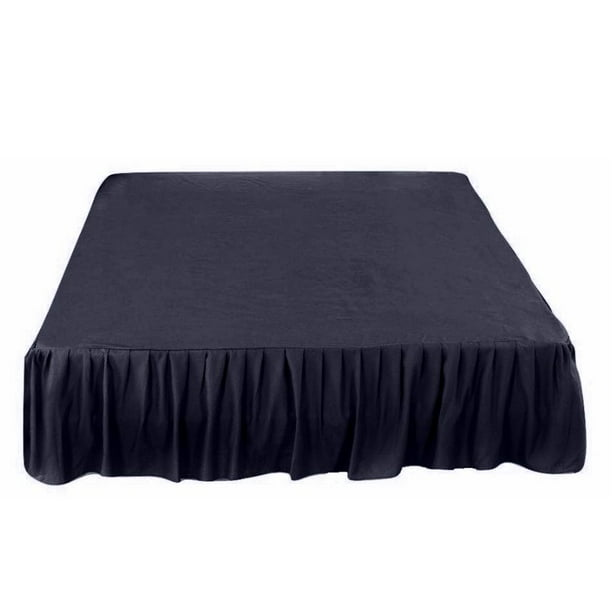 26 Inch Tailored Drop Ruffled Gathered, Purple Queen Size Bed Skirt