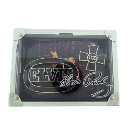 Elvis Presley Rock Box with Silvertone Necklace and Belt Buckle Limited Edition