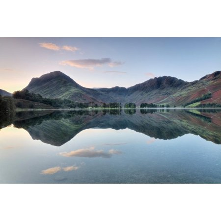 Reflection of Mountains in the Lake, Buttermere Lake, English Lake District, Cumbria, England Print Wall (Best Photography Locations In The Lake District)