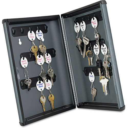 SteelMaster by MMF Industries Security Key Cabinet for 30 keys, Charcoal Gray