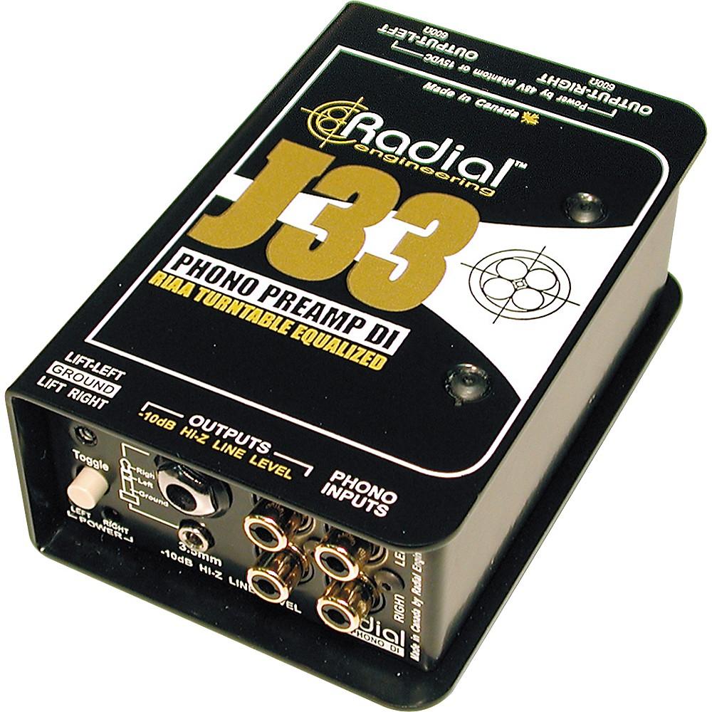 Radial J33 Turntable DI Direct Box Phono Preamp