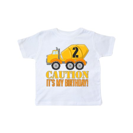 2nd birthday construction truck, cement mixer - 2 years old Toddler - 1st Shift 2nd Shift