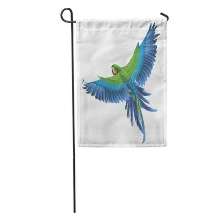 SIDONKU Blue Bird Parrot Colorful Macaw Jungle Parakeet Wing Exotic Beak Garden Flag Decorative Flag House Banner 28x40 -