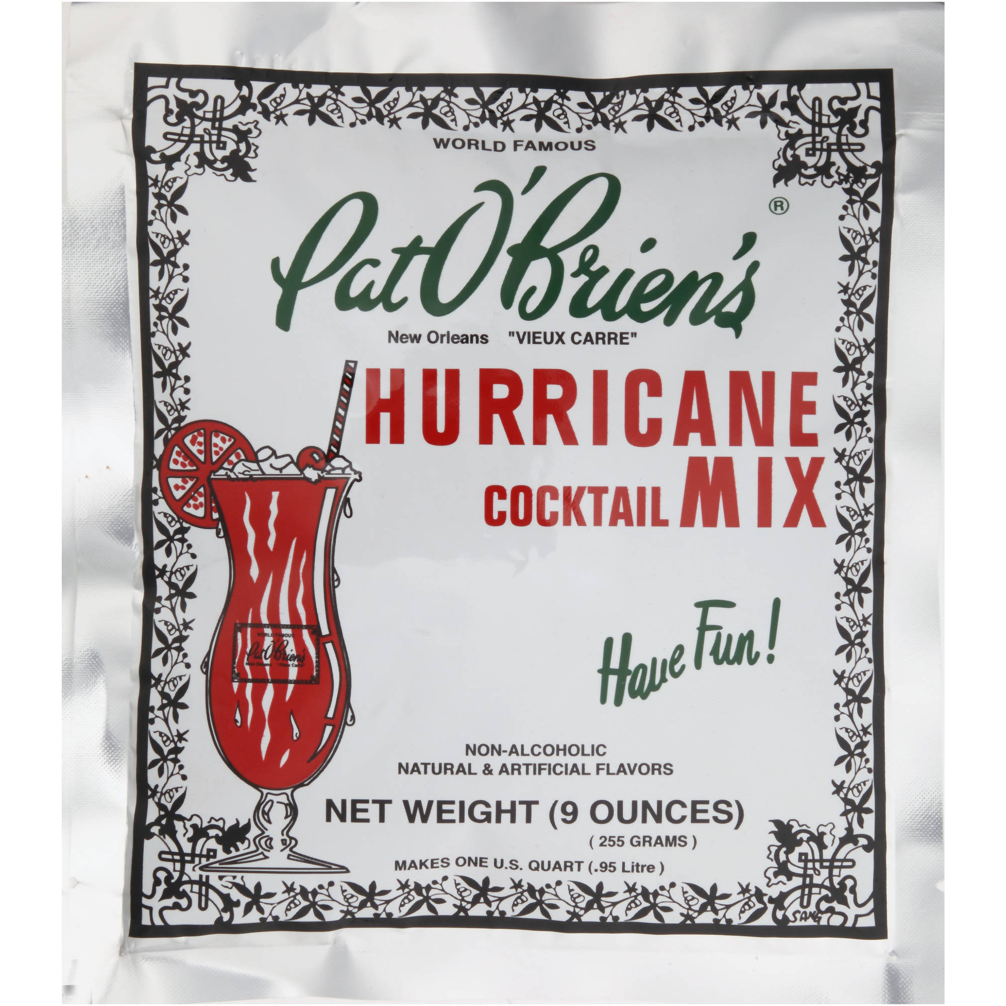 Pat O'Brien's Hurricane Cocktail Mix, 9 oz by Franco's Cocktail Mixes