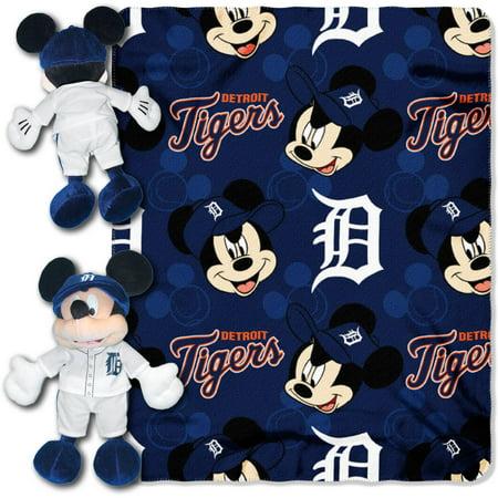 "Disney MLB Detroit Tigers Pitch Crazy Hugger Pillow and 40"" x 50"" Throw Set"
