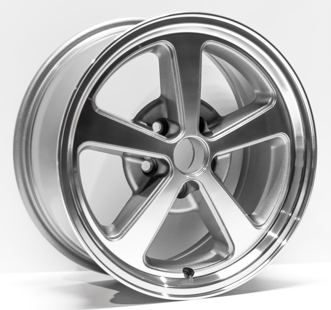"""2003-2004 Ford Mustang Replacement Wheel 17""""X8"""" 5 Spoke, Charcoal Machined Finish - Walmart.com ..."""