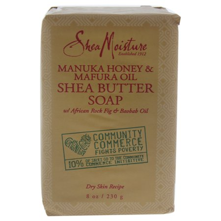 (3 pack) SheaMoisture Manuka Honey & Mafura Oil Intensive Hydration Bar Soap, 8 oz