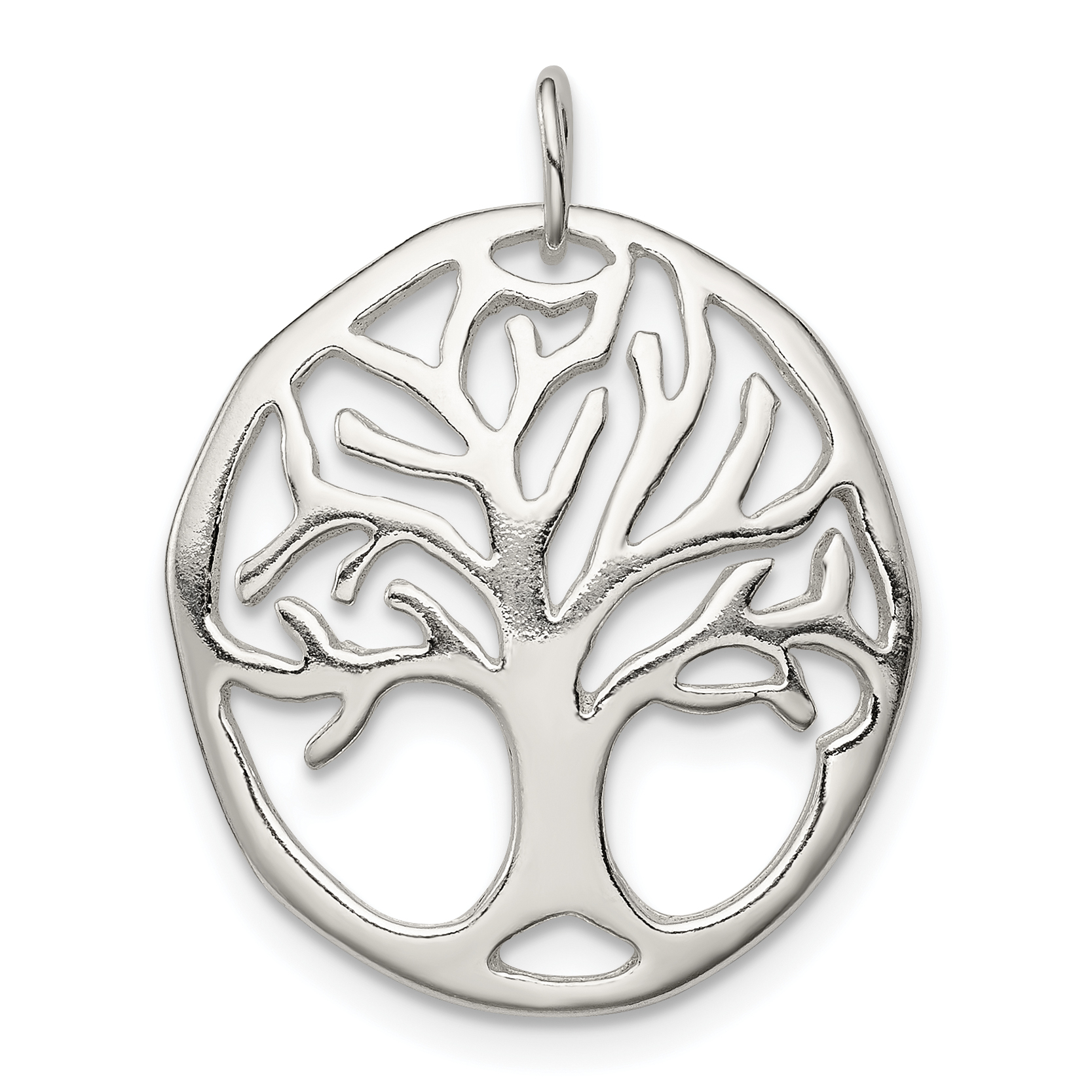 925 Sterling Silver Tree Of Life Pendant Charm Necklace Religious Spiritual/ Religion Fine Jewelry Gifts For Women For Her - image 2 of 2