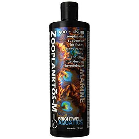 Aquarium Supplement - Brightwell Aquatics 500-1K Micron Zooplanktos-M Zooplankton Aquarium Supplement 500 Ml (Pack of 1)