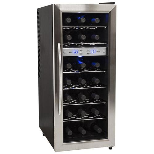 """EdgeStar TWR215E 13"""" Wide 21 Bottle Wine Cooler with Dual Cooling Zones"""