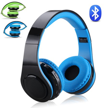Samsung Lcd Headset - Excelvan Folding Wireless Bluetooth LED Stereo Headphones Adjustable Headsets, FM Radio/ TF Card for iPhone All Android Smartphones PC Laptop MP3/MP4 Tablet Earphones