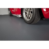 G-Floor 60 Mil Small Coin 5'x10' Slate Grey Parking Pad Garage Floor Cover/Protector