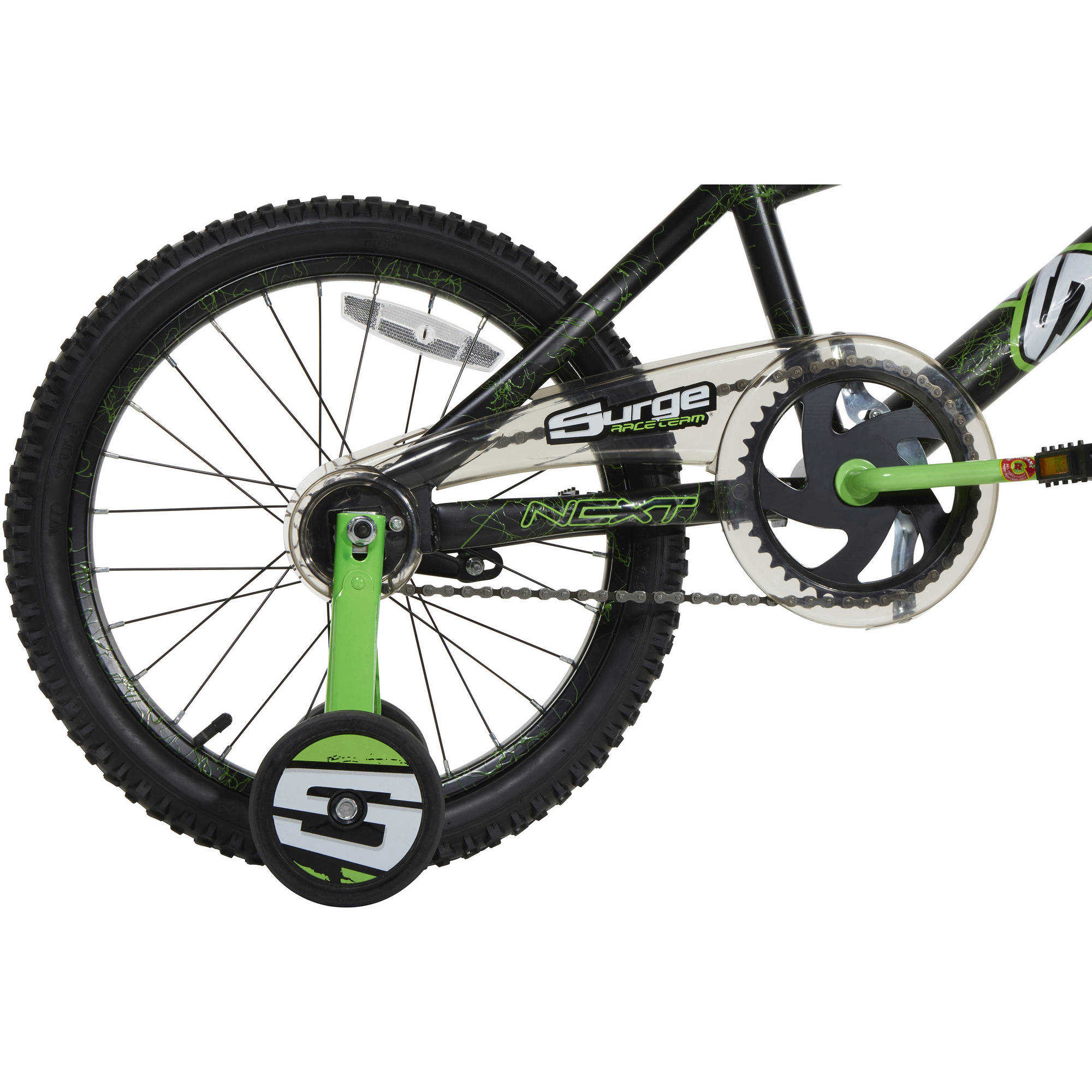 "Next 18"" Surge Boys BMX Bike Black Green Walmart"