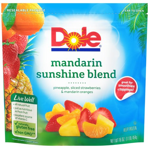 Dole Wildly Nutritious Signature Blends Mandarin Sunshine Blend Frozen Mixed Fruit, 16 oz