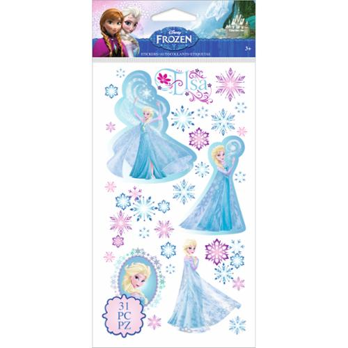 Disney Frozen Elsa & Snowflakes, 31 Piece](Elsa Stickers)