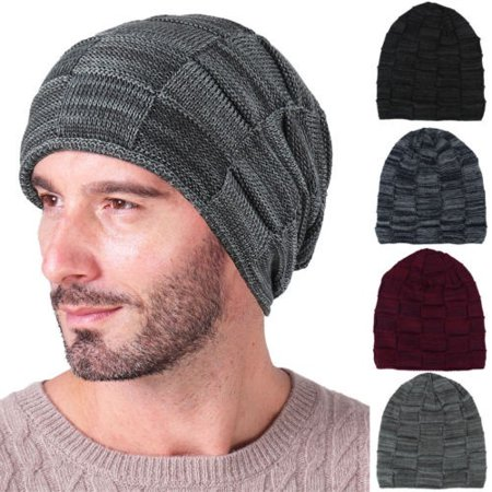 6839a061fd5 Men Women Unisex Knit Baggy Beanie Winter Hat Ski Slouchy Chic Knitted Cap  Skull New Hot