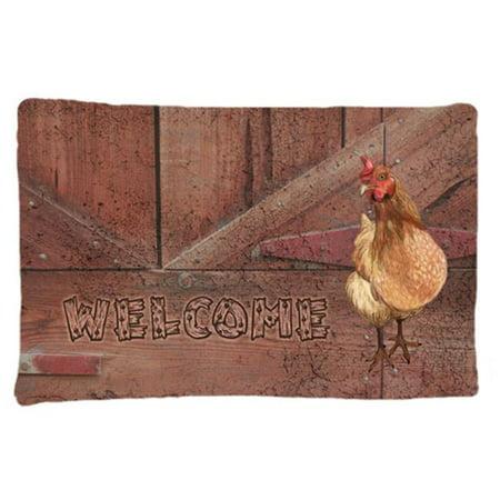 Welcome Chicken Moisture Wicking Fabric Standard Pillowcase Walmart Com Walmart Com