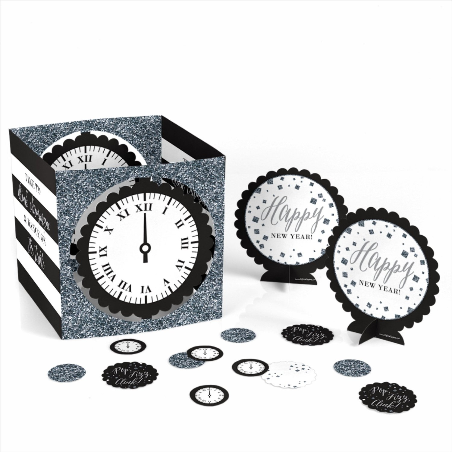 New Year's Eve - Silver - Party Table Decorating Kit