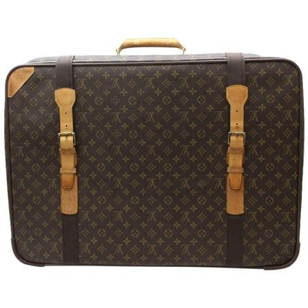 Satellite Monogram 70 Suitcase Luggage 870027 Brown Coated Canvas Weekend/Travel