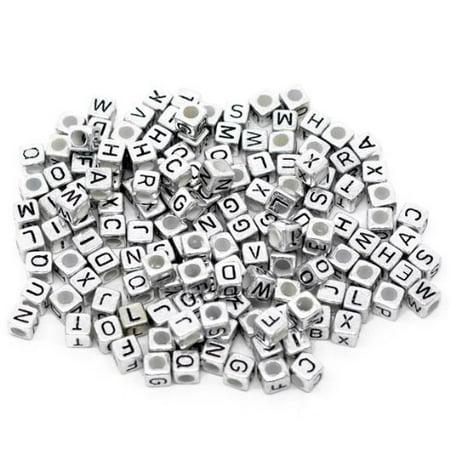 (450 Mixed Silver Tone Acrylic Alphabet /Letter