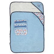 """Cookies Baby Elements Baby Boys' 9 Piece Hooded 26""""x30"""" Towels & 9""""x9"""" Washcloths Set With Maritime Prints and Gift Ribbon Packaging"""