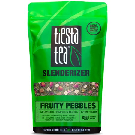 Tiesta Tea Slenderizer, Fruity Pebbles, Loose Leaf Green Tea Blend, Medium Caffeine, 1 Lb Bulk -