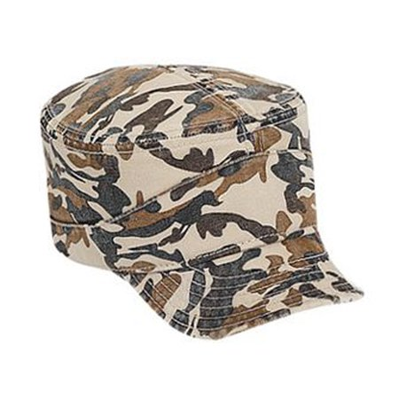 Otto Cap Camouflage Superior Garment Washed Cotton Twill Flexible Soft Visor Military Style Caps - Hat / Cap for Summer, Sports, Picnic, Casual wear and Reunion etc