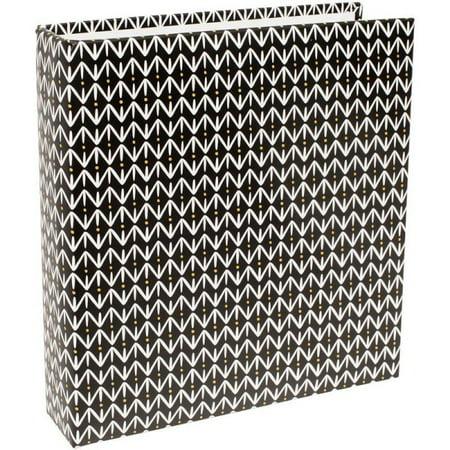 American Crafts Project Life Album 6 X 8 Black Pattern