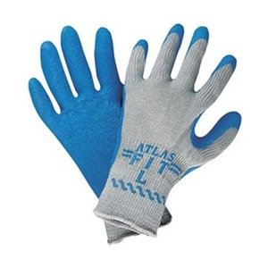 Large Rubber Grip (300 Atlas Fit Super Grip Gloves - Large, Flexible natural rubber coating By Atlas Glove )