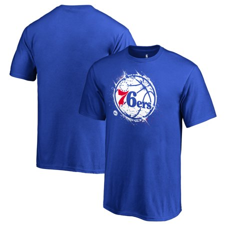 Philadelphia 76ers Fanatics Branded Youth Splatter Logo T-Shirt - Royal