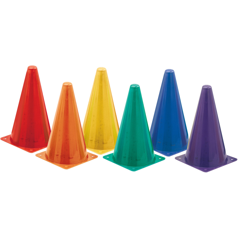 Champion Sport, CSITC9SET, s Orange Plastic Cones, 6, Blue,Red,Yellow,Purple,Green,Orange