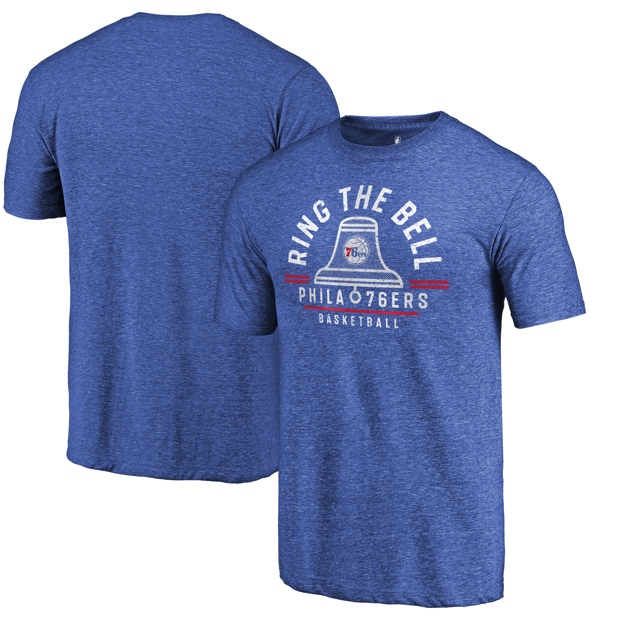 Philadelphia 76ers Fanatics Branded Hometown Collection Ring the Bell Tri-Blend T-Shirt - Royal
