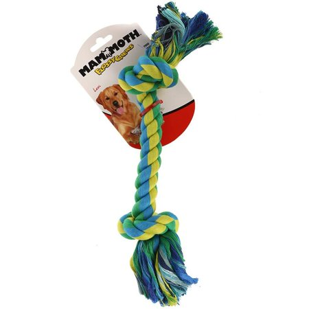 Mammoth Pet Products Central Pet Flossy Chews Tug Toss Color Bone Large 14in ()