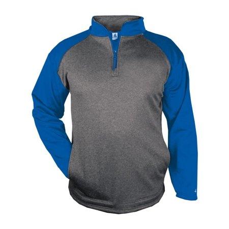 Badger Fleece Sport Pro Heather Performance Fleece Quarter Zip Pullover