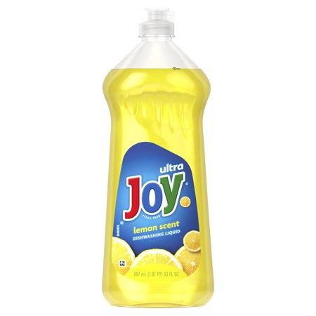 Joy Ultra Dishwashing Liquid Dish Soap, Lemon, 30 Fl Oz