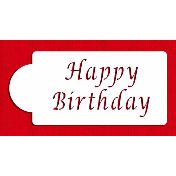 Fine Designer Stencils C013 Happy Birthday Cake Stencil Beige Semi Personalised Birthday Cards Vishlily Jamesorg